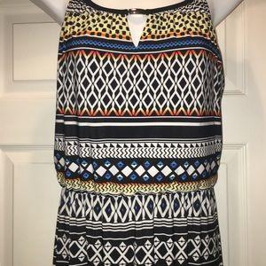 EUC WHITE HOUSE BLACK MARKET PRINTED MAXI 👗 DRESS
